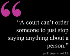 Eugene Volokh, restraining orders, harassment law, First Amendment, freedom of speech