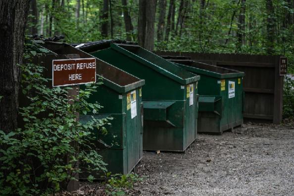 deposit refuse here