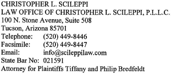 Christopher Scileppi, Chris Scileppi, Phil Bredfeldt, Philip Bredfeldt, Tiffany Bredfeldt